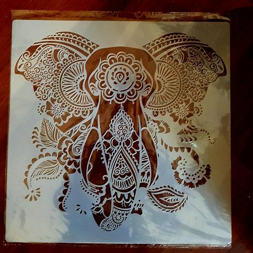 Sjablong elefant