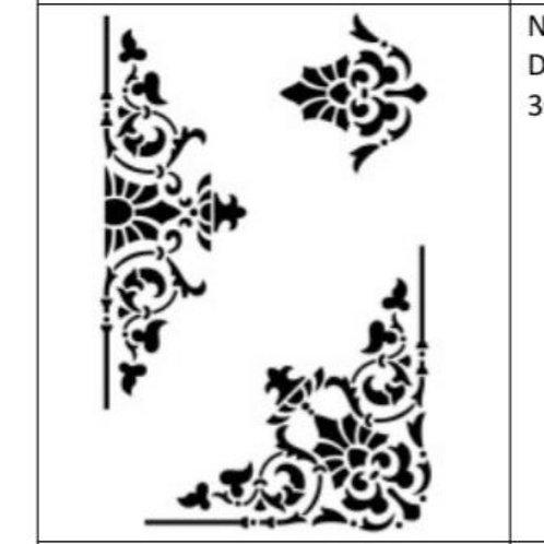 Sjablong deco trio, 30×45