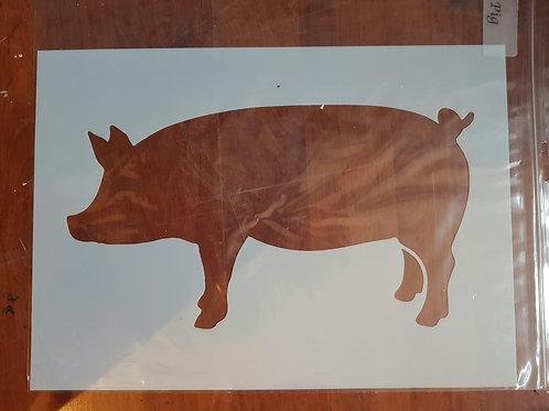 Sjablong gris stor