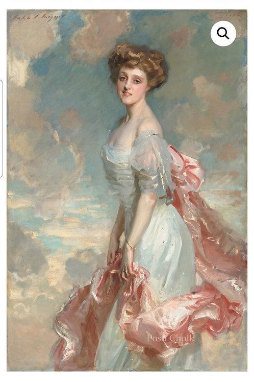Tynne rispapir,  Gracious in pink . WB