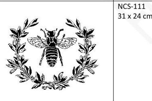 Sjablong Bee and laurel