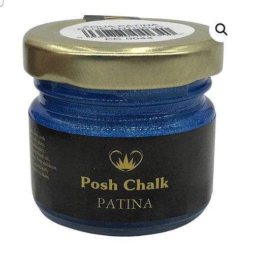 Patina, paste paint, blå . WUB