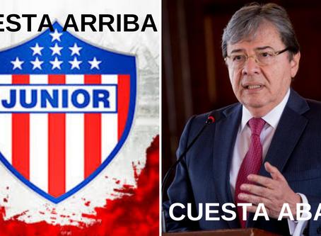 Junior 'cuesta arriba'; Carlos Holmes Trujillo, 'cuesta abajo'