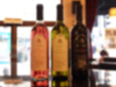 A selection of our house wines - Rose wine, White wine and Red wine - actual selection may vary from time to time.