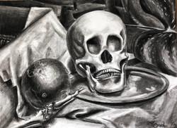 Skull and Globe