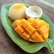 Got U Catered dessert - mango sticky rice (pulut mangga)