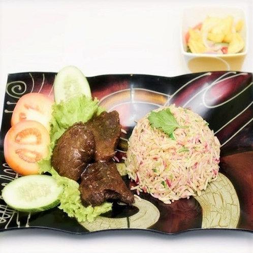 Nasi Hujan Panas Daging Masak Hitam
