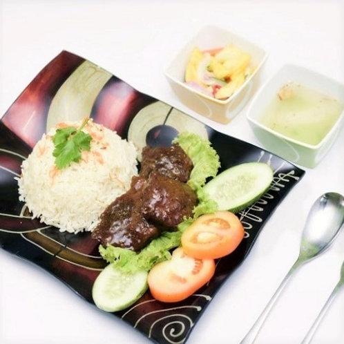 Nasi Daging Masak Hitam