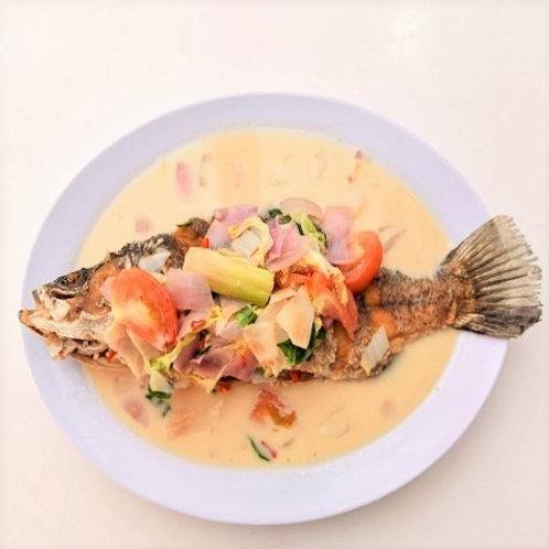 Deep Fried Seabass in White Tom Yum Sauce
