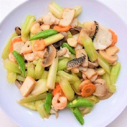 Stir Fried Celery with Seafood