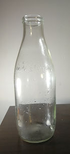 Recyclable glass milk bottle