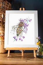137-A4 Honey Bee and Lavender super mounted.jpg