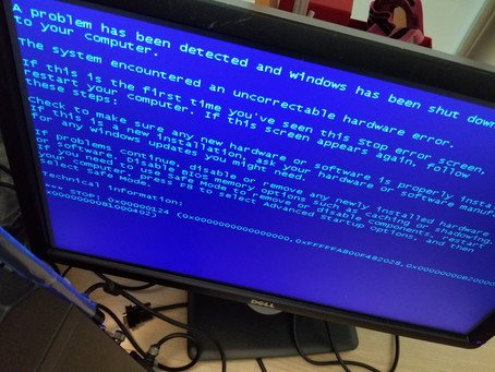 What is the blue screen of death?