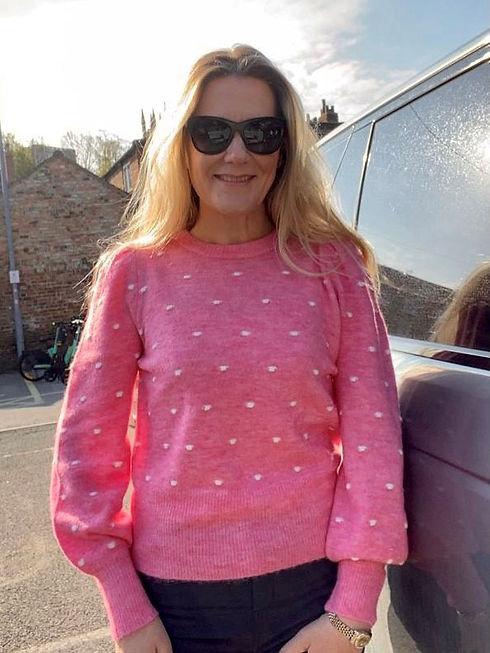 ANNA GAWTHORP in pink