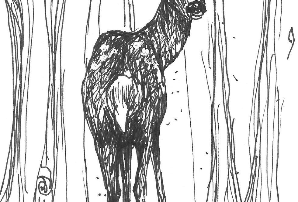 Card 'Woodland Fawn'