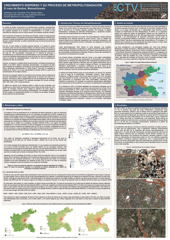 Crecimiento disperso y su proceso de metropolitanización:  El caso de Boston, Massachusetts.