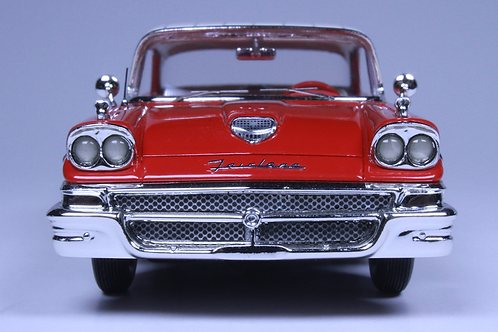GC-001A.  1958 FORD FAIRLANE 500 Torch Red- Colonial white.