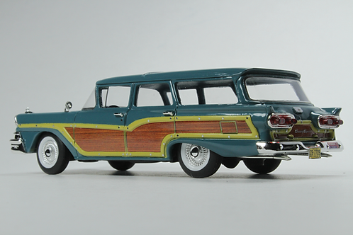 "GC-014 A 1958 FORD COUNTRY SQUIRE Gulfstream Blue""Vote for Nixon"""