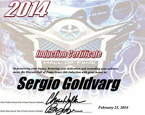 Hall of Fame Award to Sergio Goldvarg.