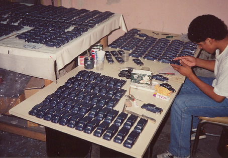 Goldvarg Collection Scale Model Cars assembly line