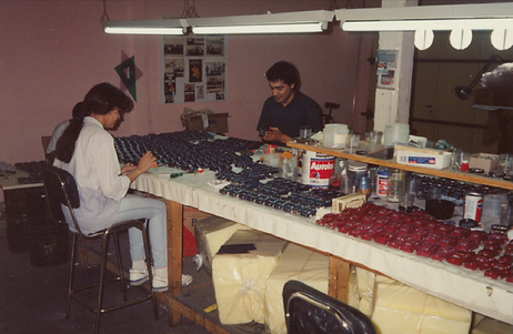 Goldvarg Collection assembly line.