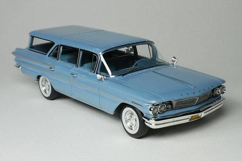 GC-041 A 1960 Pontiac Safari Color Skymist Blue