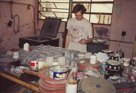 Goldvarg Collection Scale model cars casting room.