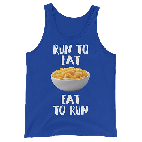 Mac 'N Cheese Tank - Run to Eat Eat to Run Tank Top - Mac and Cheese Tank Top