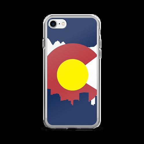 Denver Colorado Flag Phone Case for Samsung Galaxy and iPhone - Denver Skyline Colorado iPhone Case