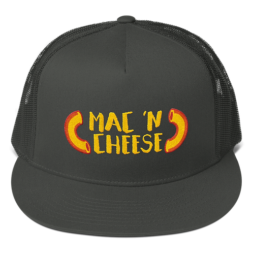 Mac 'N Cheese Trucker Snapback Cap - Mac and Cheese Trucker Snapback Cap