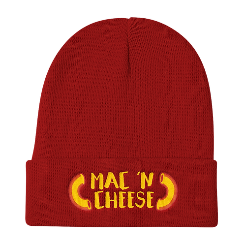 Mac 'N Cheese Beanie - Mac 'N Cheese Stocking Hat - Mac and Cheese Beanie