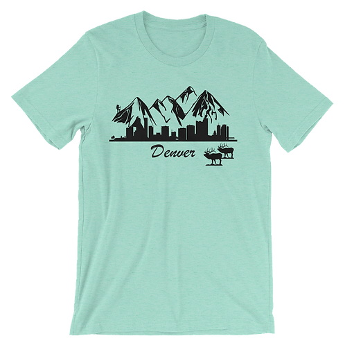 Denver Skyline Rocky Mountains Shirt - Denver Colorado Shirt - Denver City Skyline Shirt