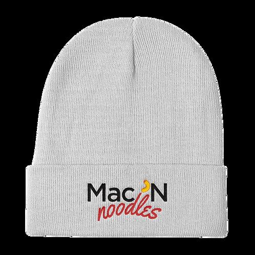 Mac 'N Noodles Logo Beanie - Mac 'N Noodles Logo Stocking Hat