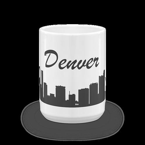 Denver Skyline Coffee Mug - Denver Colorado Skyline Mug - Denver City Skyline Mug