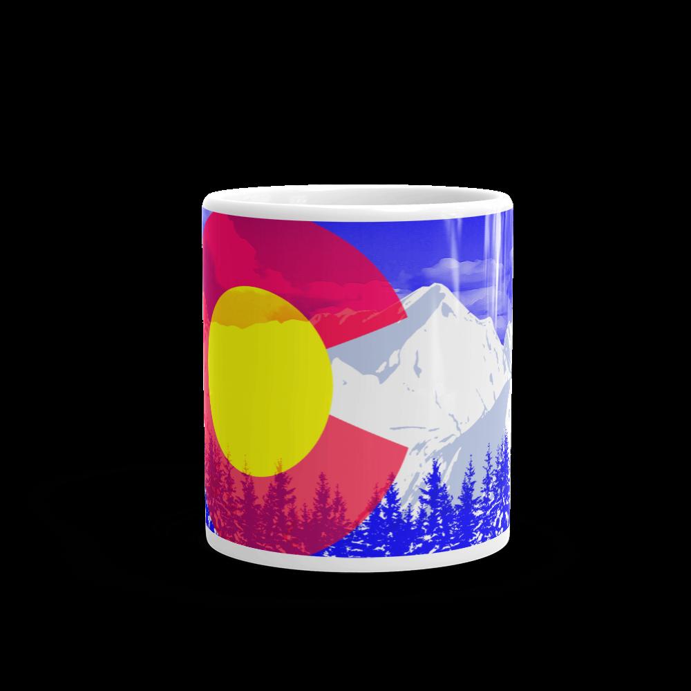 Denver Rocky Mountains Colorado Flag Coffee Mug
