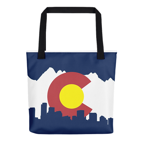 Denver Colorado Tote Bag - Denver Flag Tote Bag - Denver Flag Bag