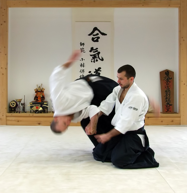 Akido, a modern Japanese martial art, emphasizes self-defense without harming one's opponent