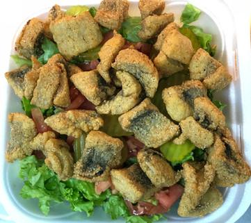Fried Trout Salad
