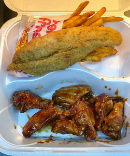 Wing & Fish Combo w/ Fries