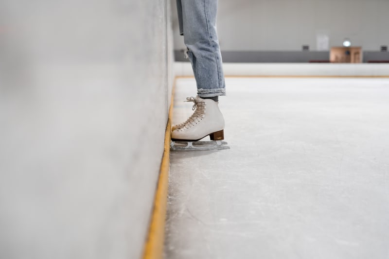 skating outdoors figure ice