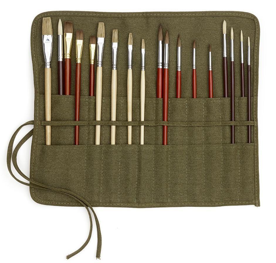 paintbrush makeup brushes knitting needles bag