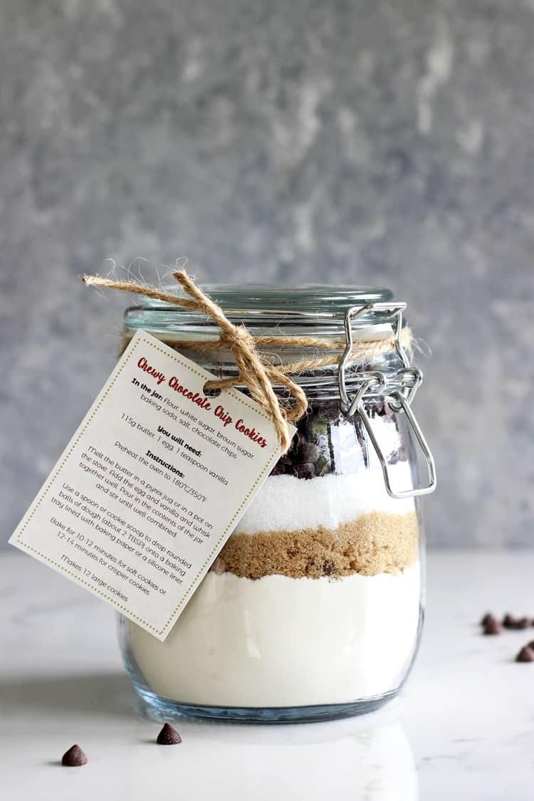 dry recipe jar gift cookies