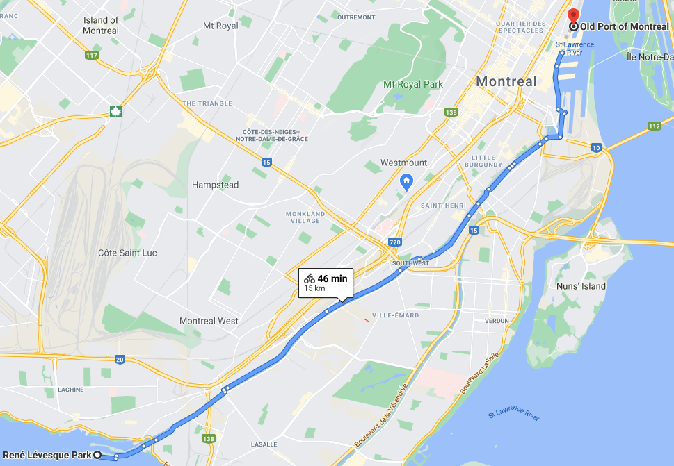 lachine canal bike route information