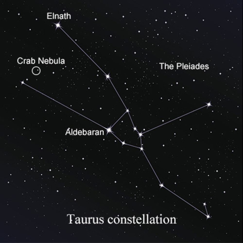 winter constellations stars map taurus