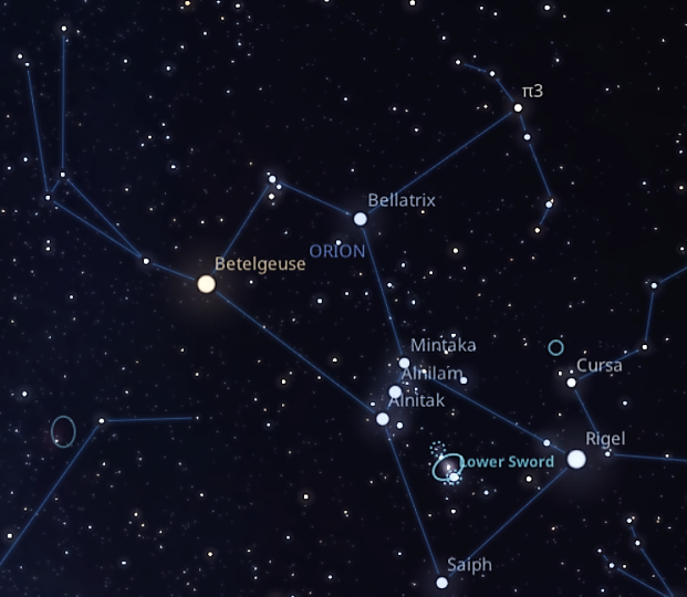winter constellations stars map orion