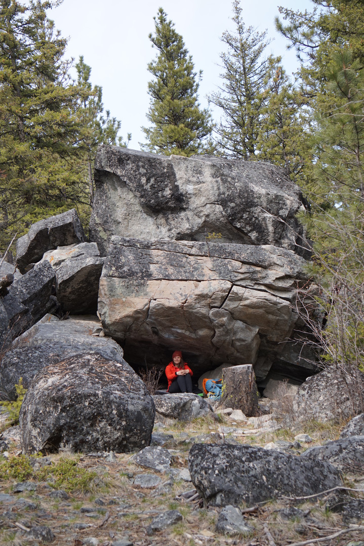 Chillin under a Boulder