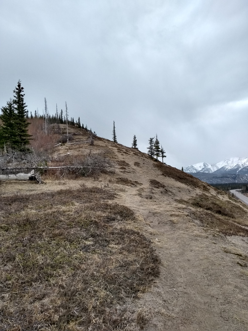 the path on the ridge is really good (photo taken on the way down)