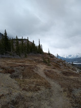 Again, the path on the ridge is good