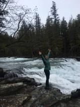 At the Mcdonald Falls