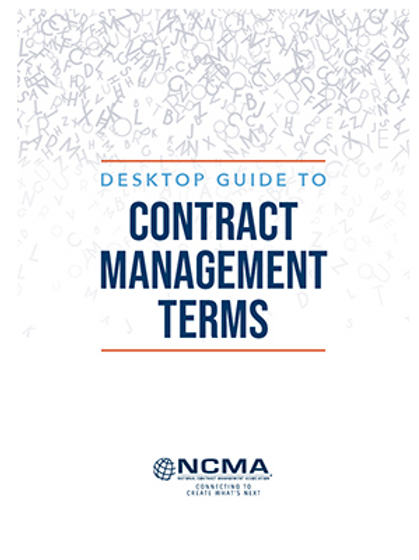NEW! Desktop Guide to Contract Management Terms